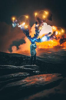 Smoke, Man, Space, Cosmos, Photographer, Photoshop
