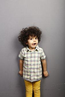 Child, Curly Hair, Hair, Cute, Person