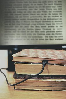Books, Old Books, Computer, Digitization, Connection