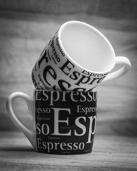 Coffee, Espresso, Bnw, Cup, Caffeine, Mug, Cafe, Table