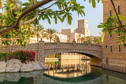 Madinat Jumeirah, Landscape, Dubai, U A E, Architecture