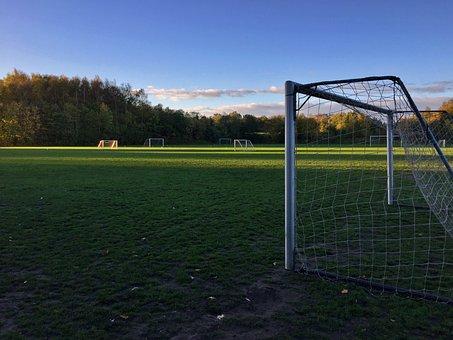 Football Goals, Grass, Lawn, Football Pitch, The Lawn