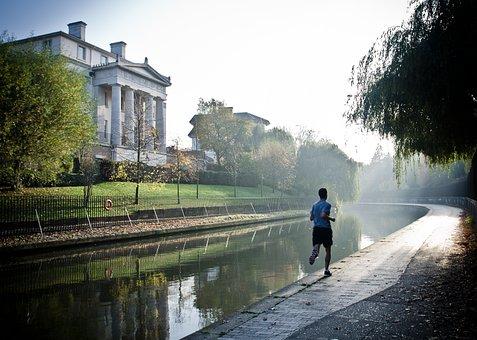 Runner, Canal, Sport, Fitness, Man, Running, Fit