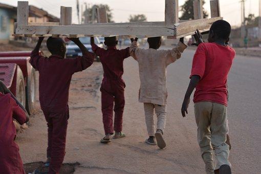 Africa, Nigeria, Children, People, Village, African