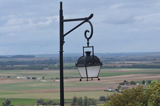 Lamp, France, City, Old, Lights