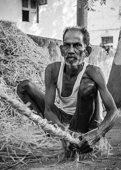 Old Man, Grass Rope, Farmer