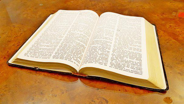 Bible, Open Bible, Christian, King James Version