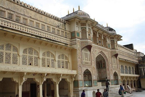 Amer Fort, Jaipur, Rajasthan, India, Architecture
