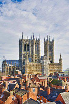 Cathedral, Lincoln, Spires, Landmark, Imposing, Church