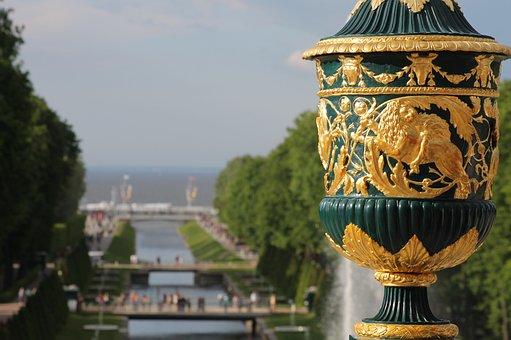 St Petersburg Russia, Peterhof, Russia, Fountains
