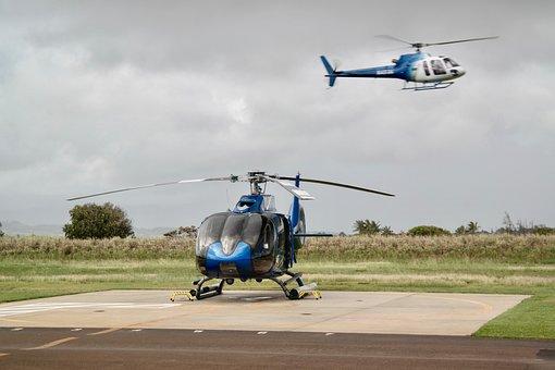 Helicopter, Flying, Flight, Landing Site, Rotor, Start