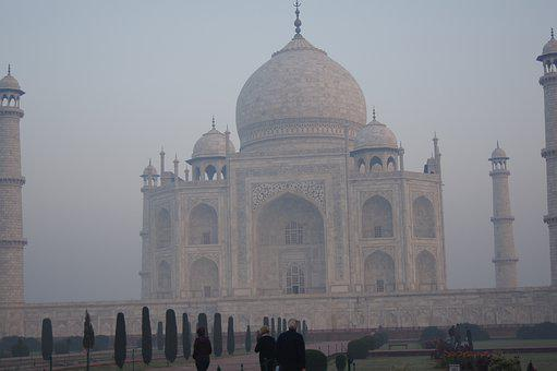 Dawn Taj Mahal, Taj Mahal In Mist, Sightsee India