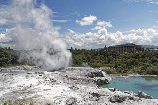 New Zealand, Pohutu Geyser, Geyser, Water, Hot, Te Puia