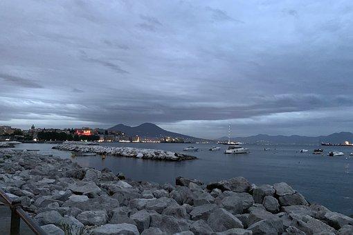 Naples, Vesuvius, Sea, Landscape