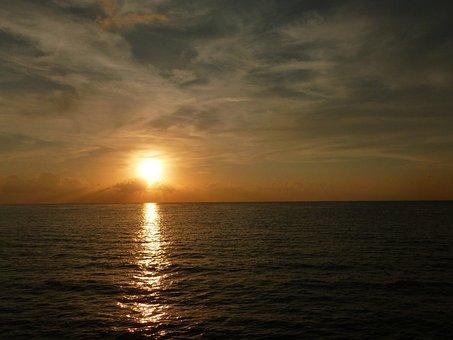 Sunset, Sea, Ocean, Sky, Beach, Water