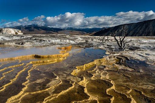 Hot Springs, Yellowstone, Wyoming, Geothermal, Spring