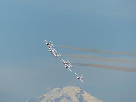 Snowbirds, Formation, Aerobatic, Mountain, Canada