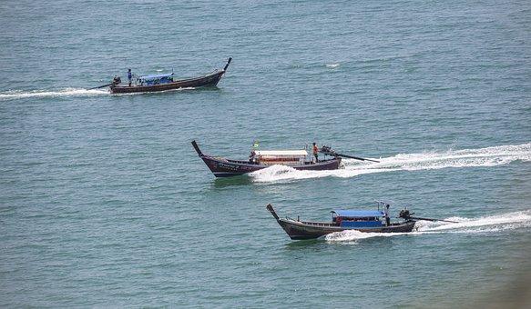 Nautical Vessel, Sea, Beach, Asia