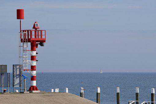 Sea, Port, Water, Tower, Beacon