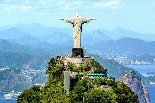 Brazil, Rio, Landscape, Christ, Redeemer, Corcovado