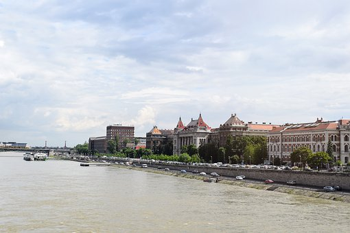 Architecture, Blue Sky, Bridge, Buda