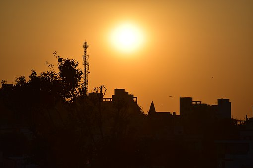Nature, City Sunset, India City, Energy, Color, City