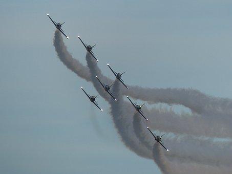 Snowbirds, Formation, Aerobatic, Airshow, Dusk
