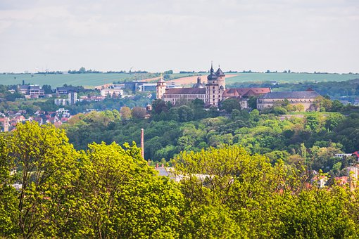 Würzburg, Festung Marienberg, Fortress, Cityscape