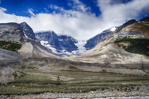 Glacier, Glacial Till, Canadian Rockies, Mountains