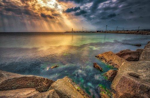 Coast, Hdr, Sea, Ocean, Landscape