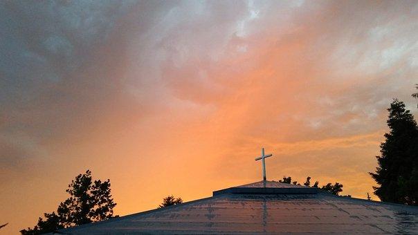 Church, Cross, Jesus, Religion, Faith