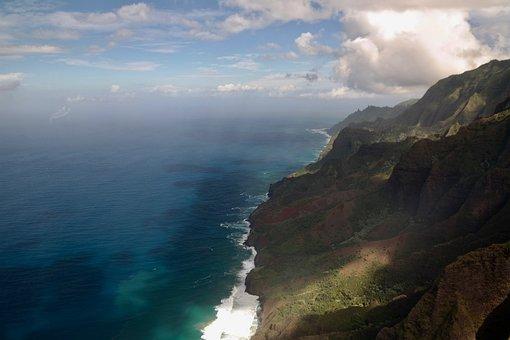 Cliffs, Coast, Mountains, Sea, Rock Wall, Landscape