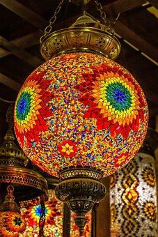 Light, Colorful, Mosaic, Stones, Energy, Lighting