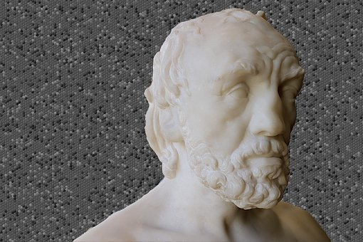 Sculpture, White Marble, Man With A Broken Nose