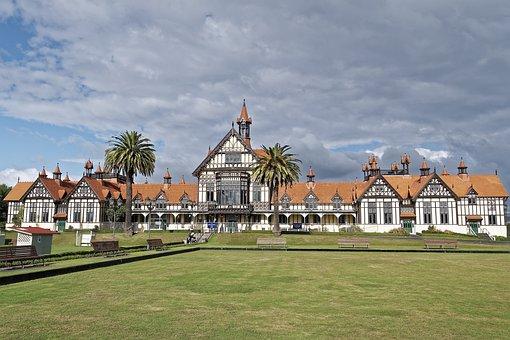 New Zealand, Rotorua, Tudor Towers, Old Bathhouse