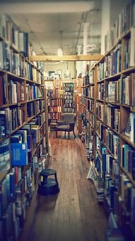 Library, Cozy, Antique, Old, Paper