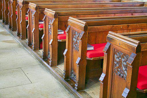 Pews, Church, Seats, Wood, Religious