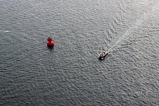 Boje, Water, Boat, Sea, Seafaring, Red