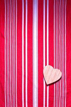 Background, Valentine's Day, Tissue, Red, White