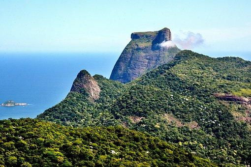 Brazil, Rio, Landscape, Tourism, Gavea, Mountain, City