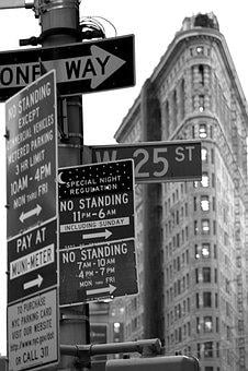Traffic Signs, New York, Flatiron Building, Road