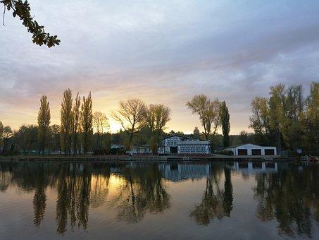 Saale, Bernburg, River, Saxony-Anhalt