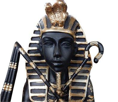 Egypt, Tutankhamun, Black, Deco, King, Sculpture
