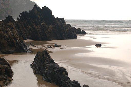 Beach, Nature, Cloudy, Sea, Ocean