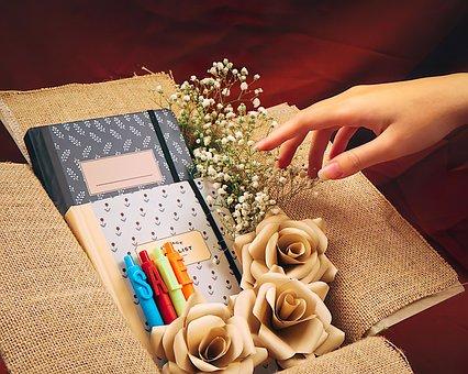 Sale, Hand, Books, Bookstore, Shop, Flowers, Pen, Retro