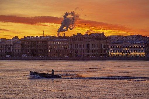 St Petersburg, Russia, City, Dawn