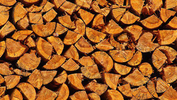 Wood, Firewood, Stacked, Strains, Sawn
