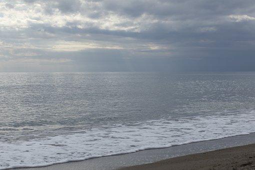 Marine, Sky, Beach, Landscape, Sunset