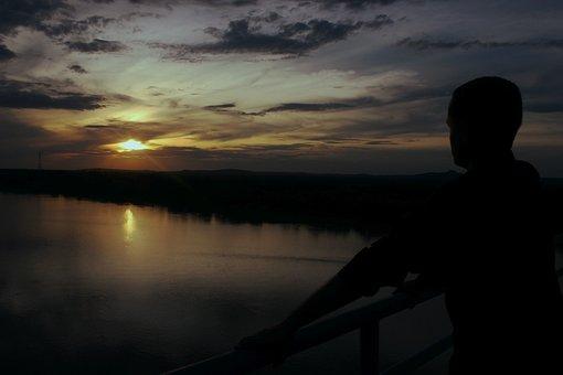 Mirante, Sunset, Horizon, Reflection