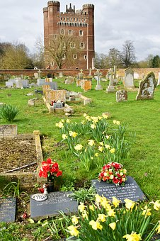 Graves, Cemetery, Tattershall, Castle, Keep, Fortress